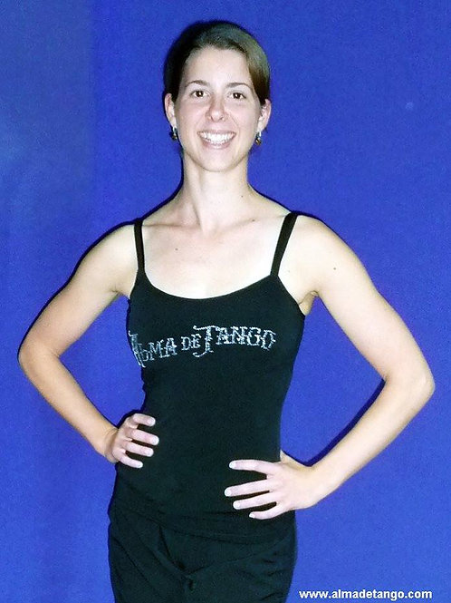 Double layer singlet with diamont Alma de Tango School logo