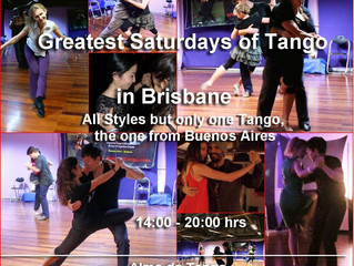 JOIN HUGO THIS SATURDAY AT THE GREATEST SATURDAYS OF TANGO IN BRISBANE