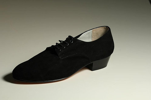 MEN Shoe Black Suede Comfortable Leather
