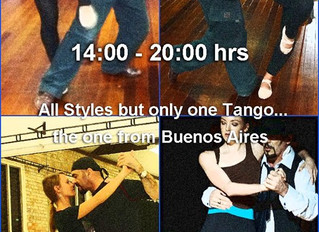 TOMORROW THE ACTION STARTS AT 2:15 PM AND ENDS...LATE!  Join our Greatest Saturday of Tango Classes