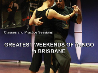 Great Tango Saturday Ahead!