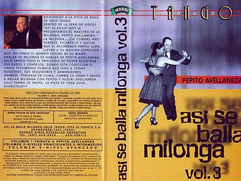 """ASI SE BAILA MILONGA"" Vol 3 - Pepito Avellaneda"