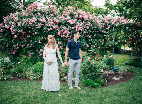 Alyssa and Tim | A Dreamy Maternity Session at Blithewold Gardens | Bristol, Rhode Island
