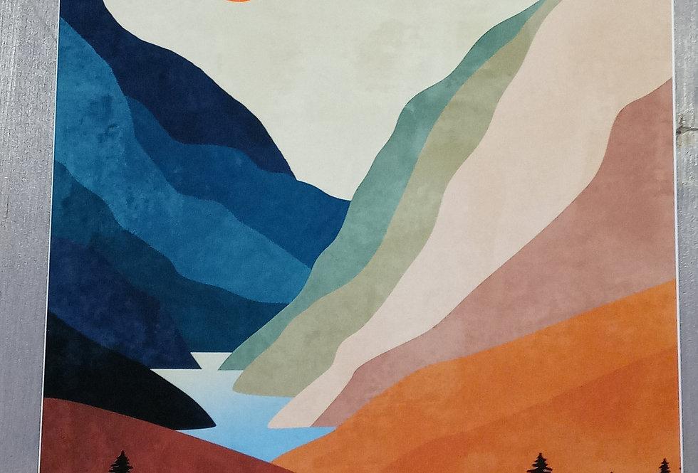 Durido Print - Mountain Lake
