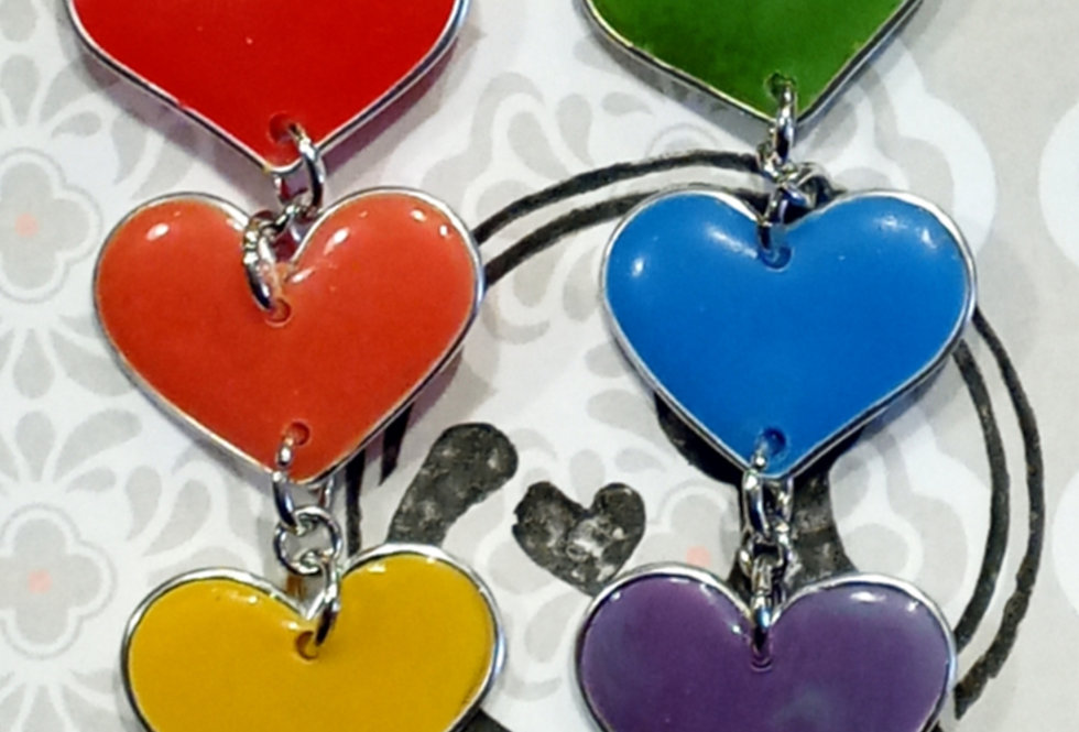 Pride Heart Earrings