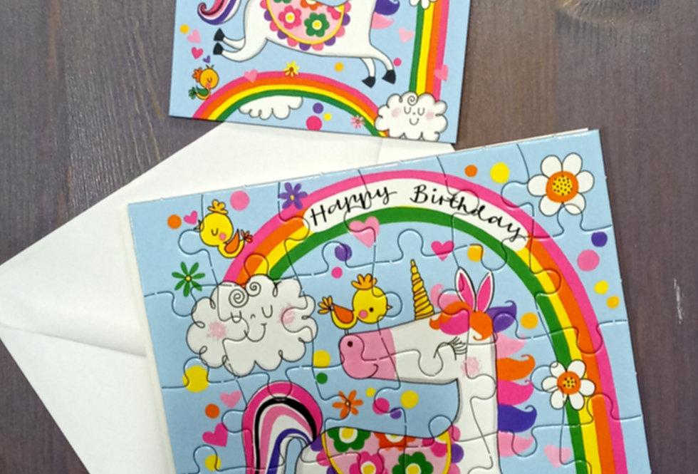 Unicorn Jigsaw Card