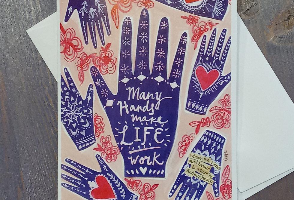 Many Hands Card