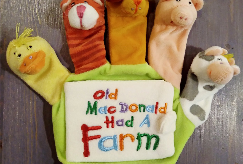 Old McDonald Hand Puppet and Book