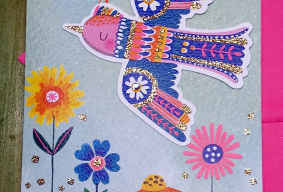Bird Ornament Card