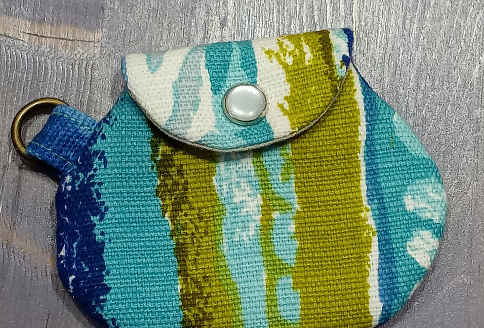Upcycled Textile Coin Purse