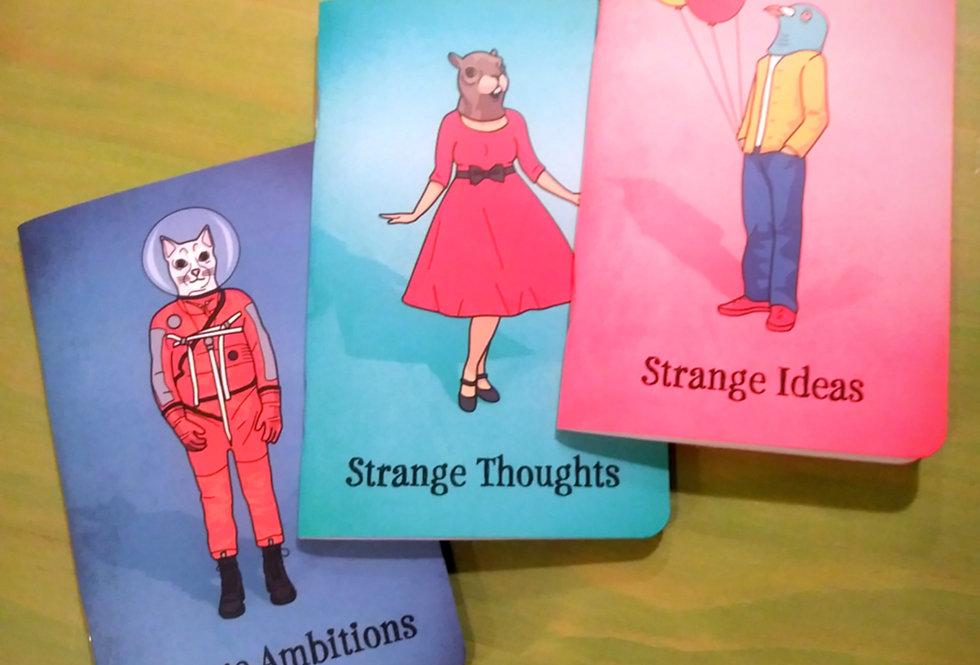 Strange Friends Notebooks Set of 3