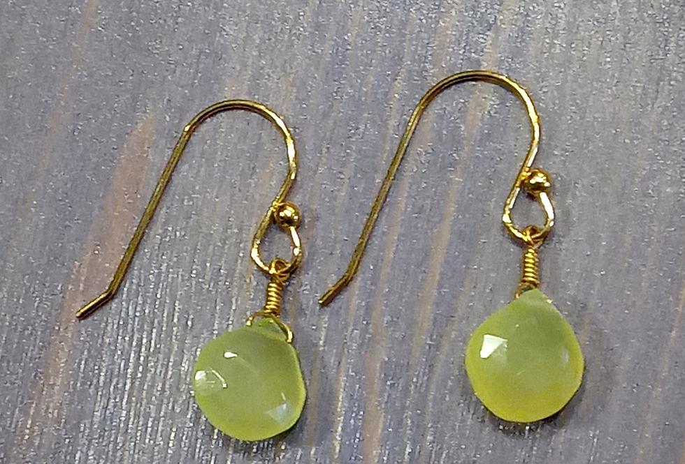 Chalcedony Earrings, Small