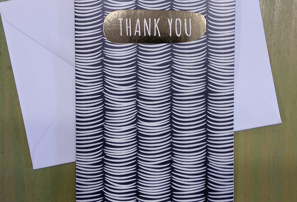 Thank You - Gold Embossed Card