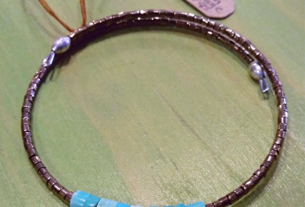 Czech Vintage Turquoise Bracelet