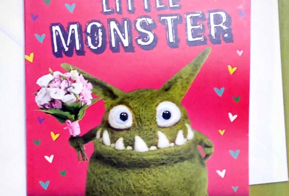 Little Monster Card
