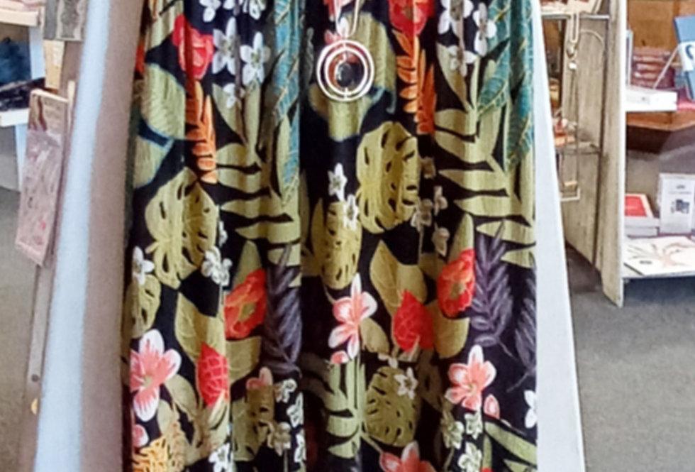 Tropical Print Hi-Lo Dress