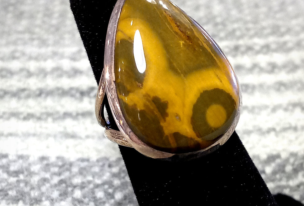 Brown Ocean Jasper Ring