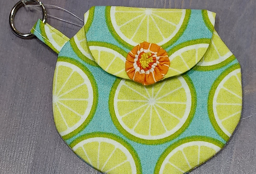 Lime & Orange Slices Coin Purse