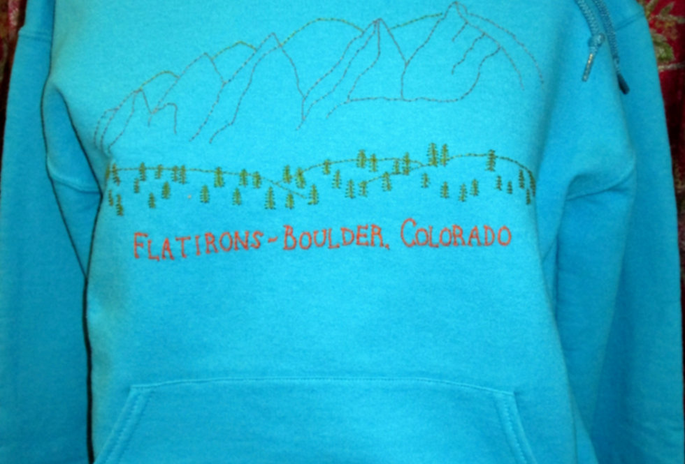 Blue Boulder Flatirons Hoodie