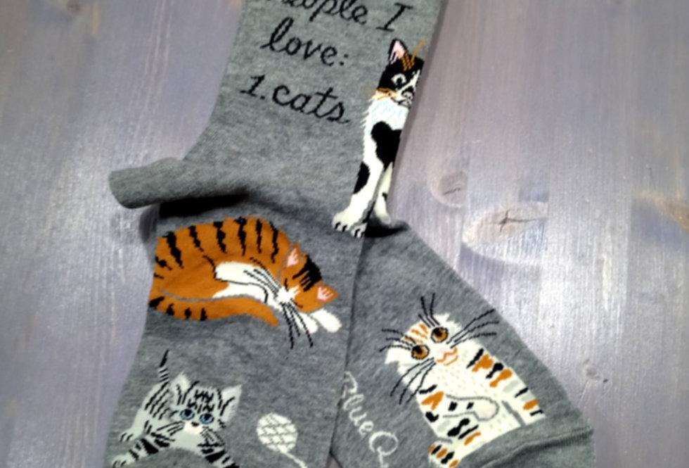 I Love Cats Socks