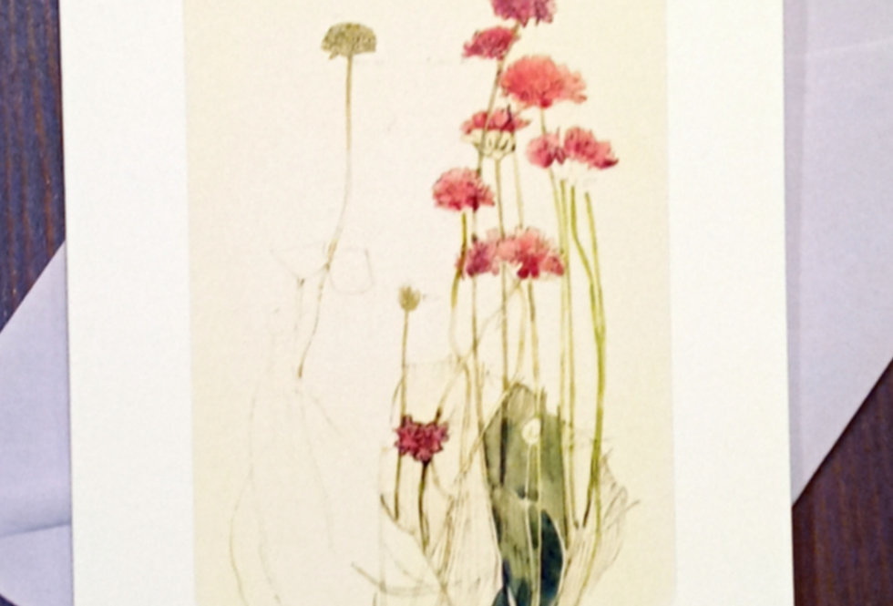 With Sympathy Card (red flowers)
