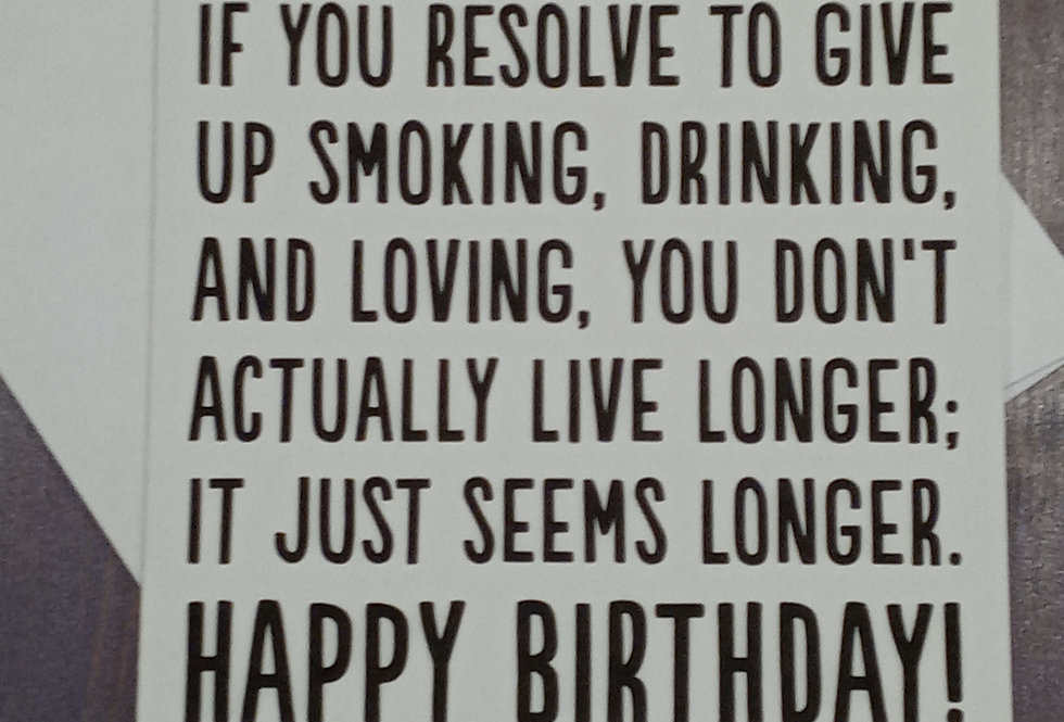 If You Resolve - Birthday Card