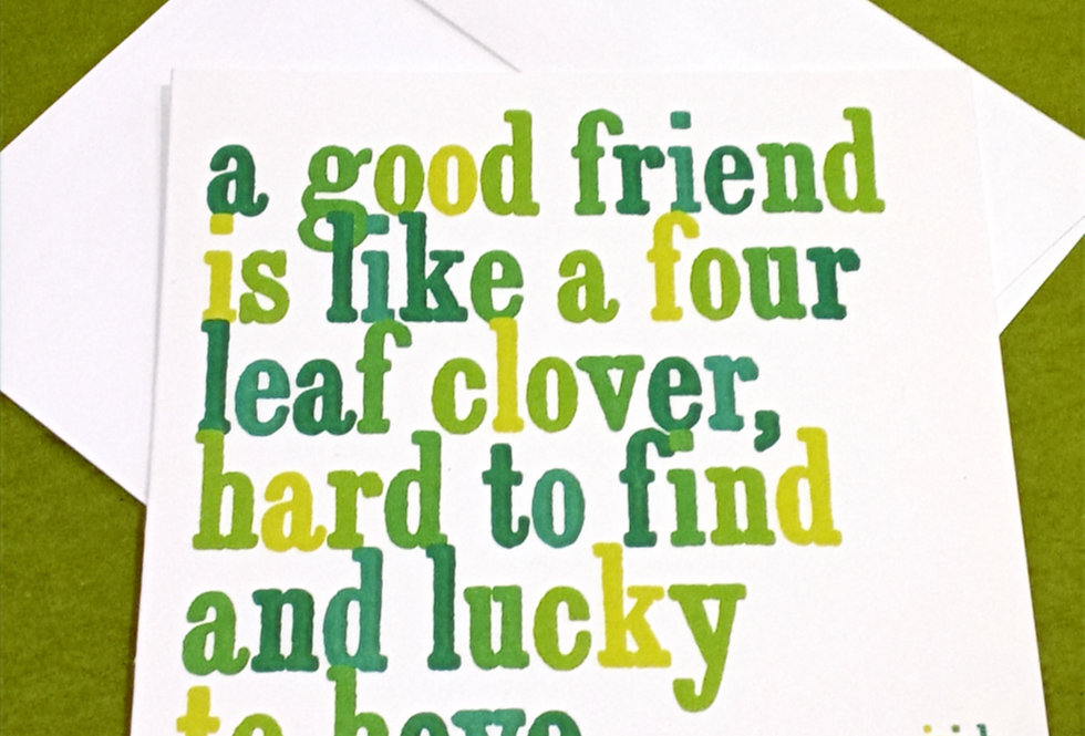 A Good Friend Card