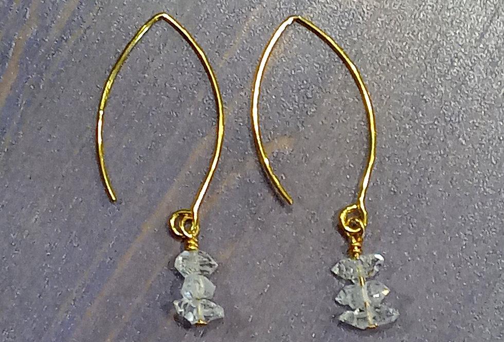 Sparkling Herkimer Diamond Earrings