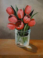 Julie read cactus painting