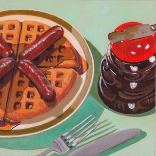 Waffles and Sausage