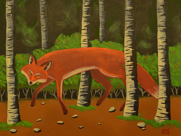 fox painting julie read