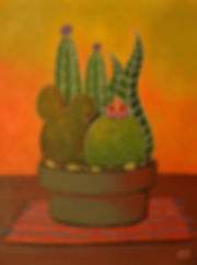 Julie read cactus painting