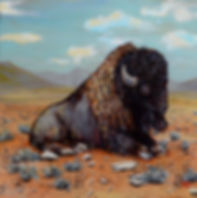 buffalo painting Julie Read