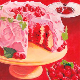 Angle Berry Cake