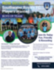 U9 and U10 Recruitment Advert 2020 - Mad