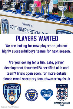 Players Wanted Generic - Made with Poste