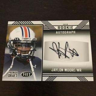 Baltimore Ravens WR Jaylon Moore SAGE Hit Premier Draft Rookie Autograph