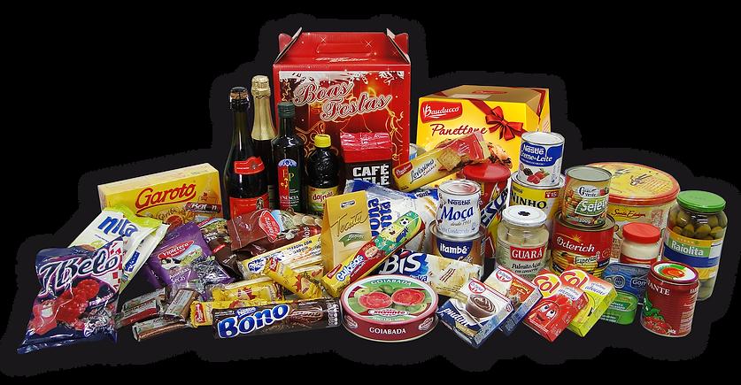 Nutricionale cesta de Natal