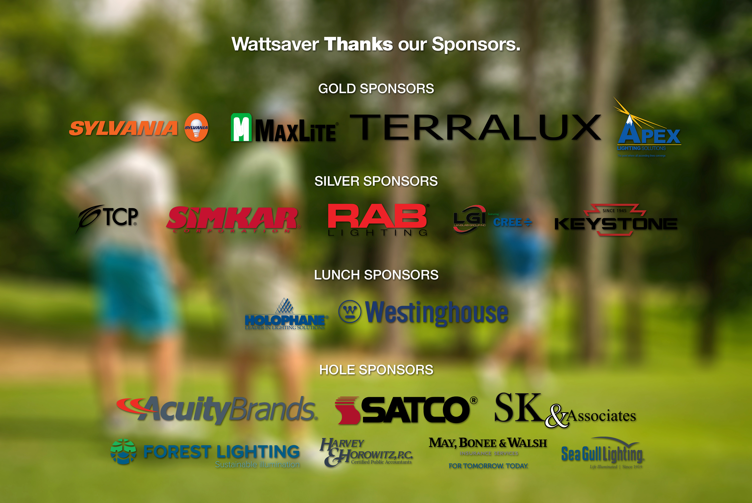 Wattsaver Thanks Our Sponsors.