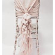 Chiffon Hood With Ruffles - Pale Pink.jp