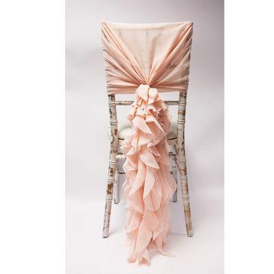 Chiffon Hood With Ruffles - Blush Pink.j