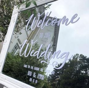 Welcome Mirror - White Ornate Frame.jpg