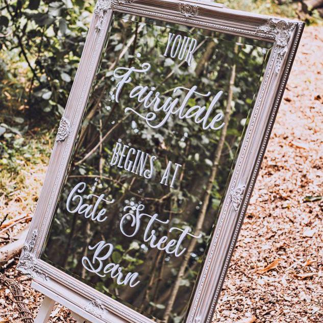Woodland Wedding Welcome - Natural White Wash