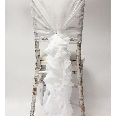 Chiffon Hood With Ruffles - Ivory.jpg