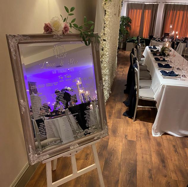 Table Seating Plan - Natural Ornate Mirr