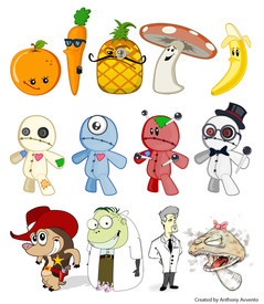 2D Illustrated Character