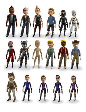 Microsoft XBOX 360 Avatars Models I designed, Modeled and Rigged