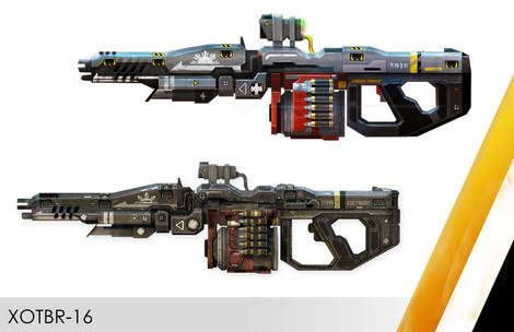 2D Concept X16 Titan weapon