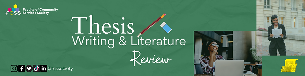 FCSS Thesis Writing & Literature Review