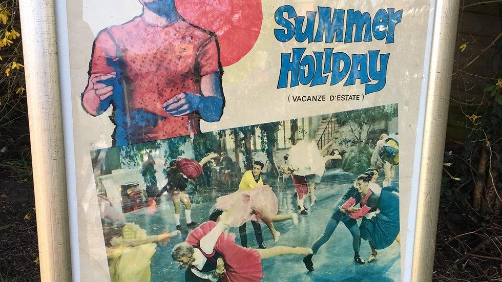 Original 1960s Italian cinema poster of Summer Holiday